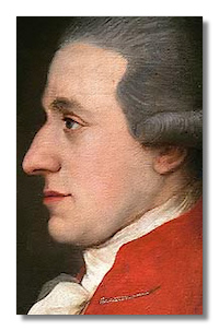 A portrait of Mozart painted in 1783, during his early years in Vienna when he was in buoyant mood after his marriage to Constanze
