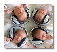 Babies listening to classical music