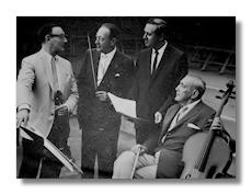 Primrose, Heifetz, Pennario, and Piatigorsky