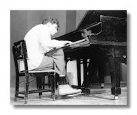 Glenn Gould at the piano