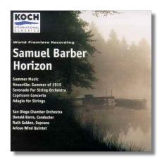 Horizon First Edition Chamber Orchestra Full Score Samuel Barber